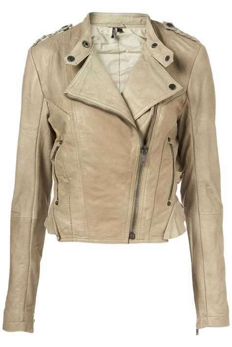 Topshop Fashionalities by Topshop Leather Saddle Stitch Jacket Raindrops Of Sapphire