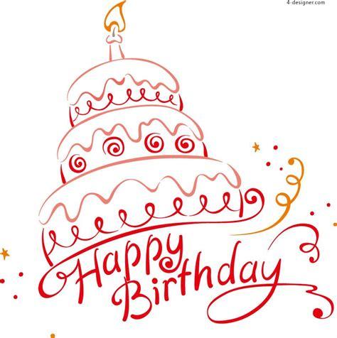 free happy birthday word design 4 designer creative happy birthday wordart vector material