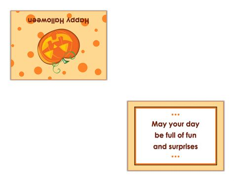 open office quarter fold card template autumn office