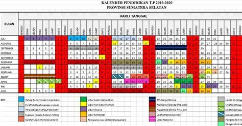 kalender pendidikan  sumsel excel panduandapodikid
