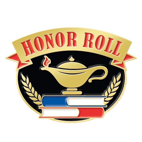 honor roll  lamp  knowledge lapel pin positive promotions