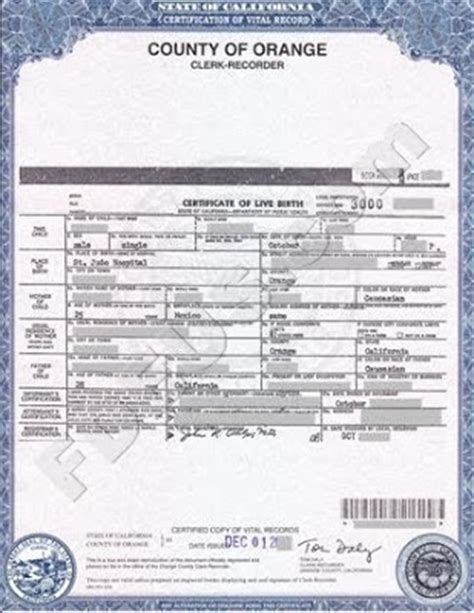 Vital Records Order Birth Certificate Orange County Birth Certificate California Get Vital Record Birth Certificate