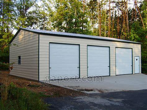 and garage door to metal building metal garages steel florida fl