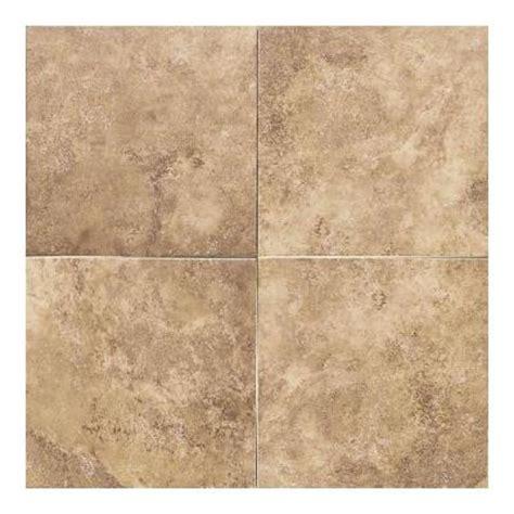 Glazed Ceramic Tile Daltile Salerno Marrone Chiaro 12 In X 12 In Glazed