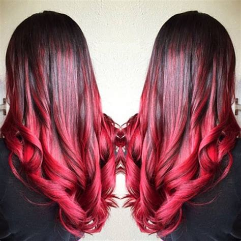 bright color ombre hairstyles 10 shades of red more choices to dye your hair red