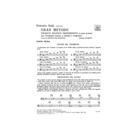 0041801318 gran metodo teorico pratico gatti trombone metodi trombone vendita metodi ricordi