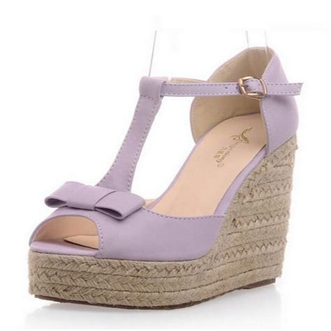 Promo Wedges No1 Terjangkau platform wedges high heels sandals shoes for hemp rope s shoes platform wedges