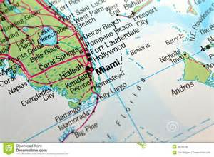 miami florida map stock photography image 25704182