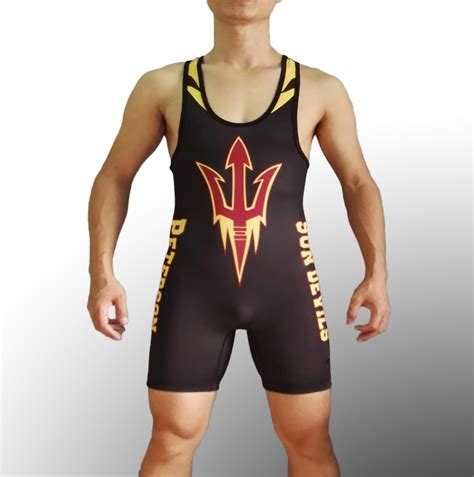 Kaos Singlet Onepiece mens sun devils beast asu tight suit one singlet youth weight lifting workout