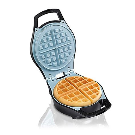 waffle maker bed bath and beyond hamilton beach 174 durathon ceramic mess free waffle maker