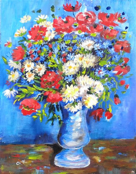 Gogh Flowers In A Vase by Flowers In A Vase Painting Gogh Www Pixshark