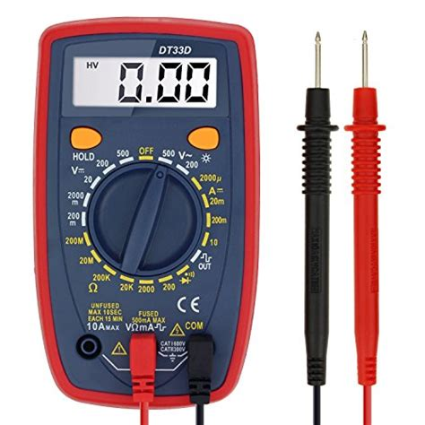 testing a diode with a fluke 57 astroai digital multimeter with ohm volt and diode test