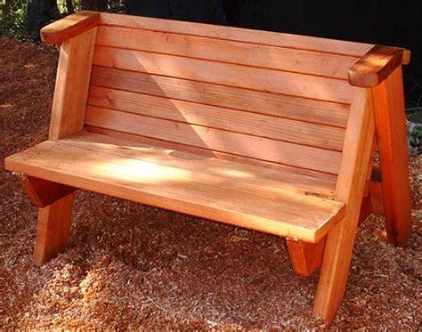 rustic outdoor bench plans forever redwood rustic garden bench