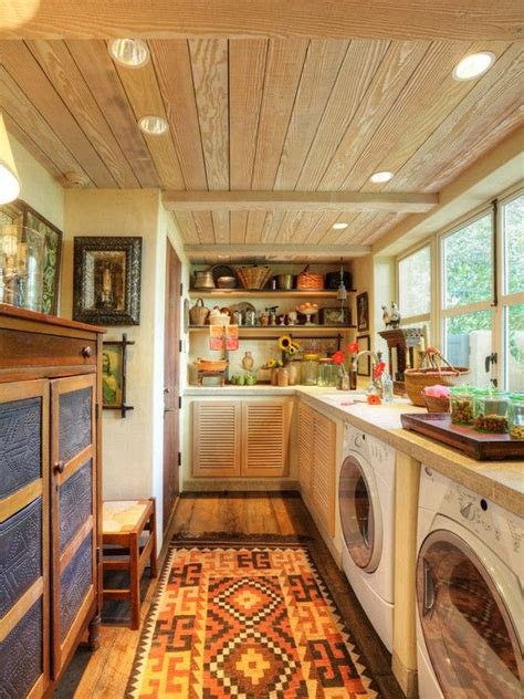 back porch converted into a laundry room   Laundry Room