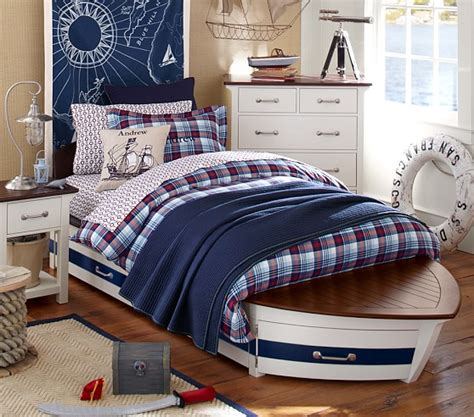boat bed twin speedboat bed trundle pottery barn kids