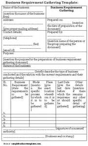 requirement gathering document template index of wp content uploads 2011 09