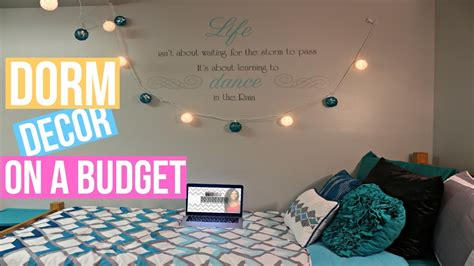 how to decorate your room how to decorate your dorm room on a budget youtube