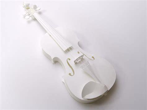 Violin Papercraft - paper model series quot pepakura quot high quality card model