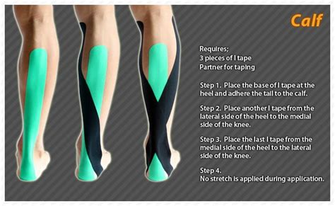 freehand calf muscle skin tear calf ares kinesiology tape taping sports injuries