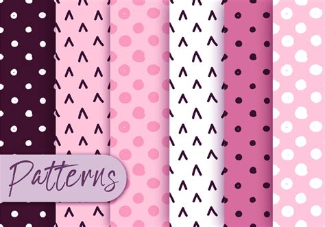 cute pattern set cute polka dot pattern set download free vector art