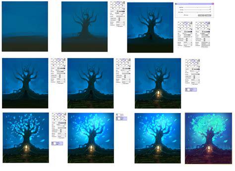 paint tool sai lighting tutorial magic tree step by step tutorial by ryky on deviantart