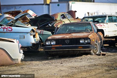find pictures of cars imports in an american junkyard speedhunters