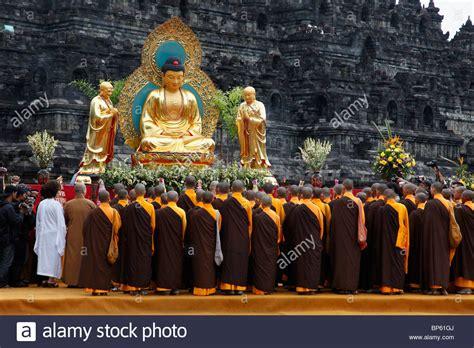s day indonesia indonesia java borobudur waisak day celebration buddha