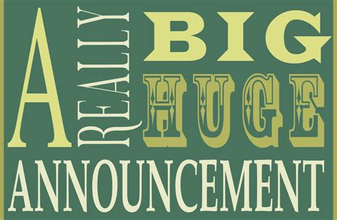 Time To Announce The Big News by Major Announcement Mixed Model Search