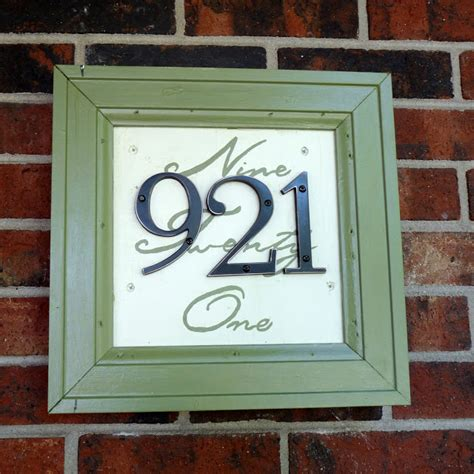 House Number Sign by Creative Diy House Number Ideas