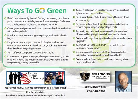 ways to be green at home easy ways to go green in carlsbad ca at home in carlsbad