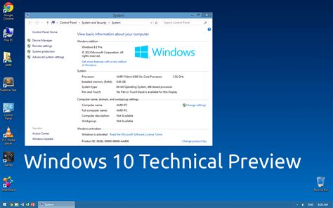 Wallpaper Windows 10 Technical Preview | windows 10 technical preview wallpaper by paladin324 on