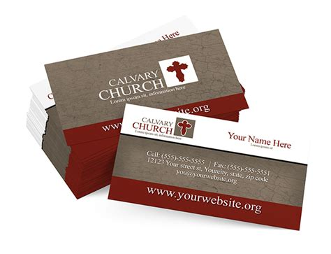 church business cards templates free classic church card digital316 net
