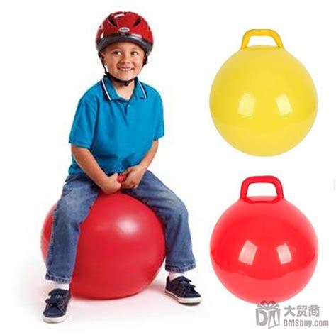 Mainan Bola Anak Handle jual bouncy hop jumping bola karet lompat handle