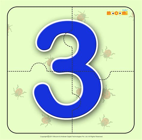 printable number jigsaw puzzles number three 3 number jigzaw puzzles for kids mocomi