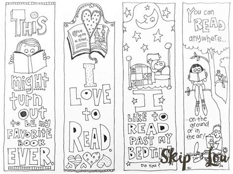 printable animal bookmarks to color free printable coloring bookmarks template pinterest