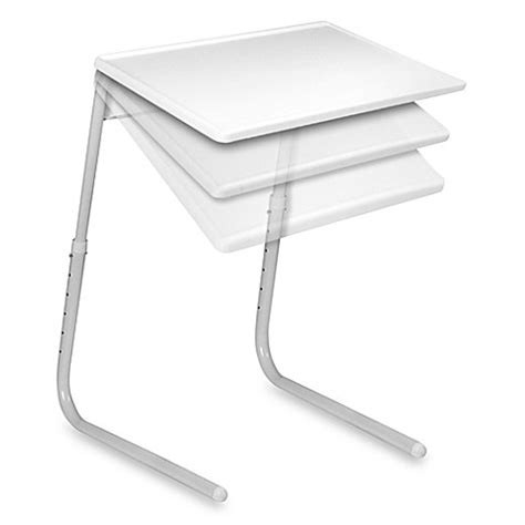 table mate 174 the adjustable table in white bed bath beyond