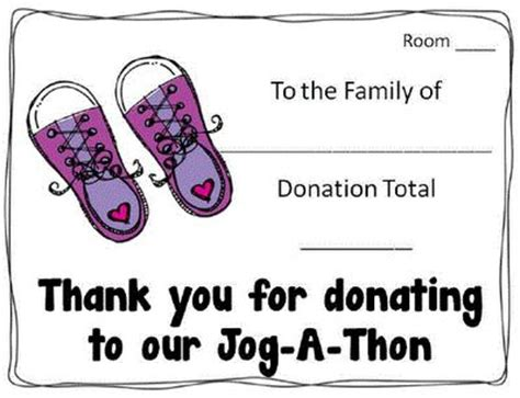 walk a thon punch card template 17 best images about jog a thon ideas on