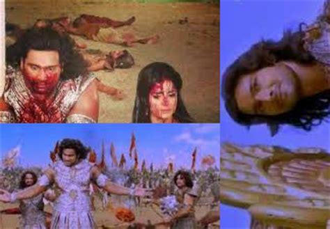 film mahabarata detik detik kematian duryudana review mahabarata antv abimanyu dan gatot kaca mati