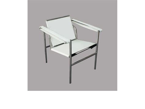 chaise lc1 le corbusier blanc