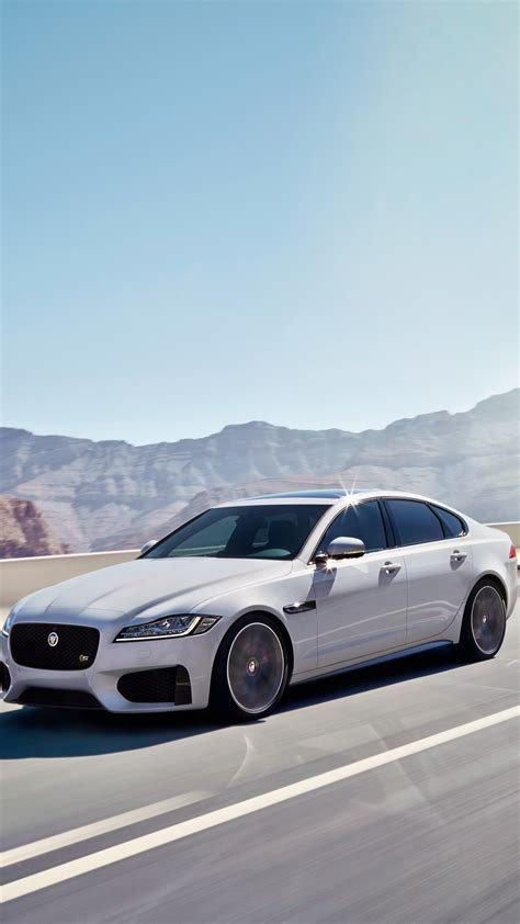 hd background jaguar xf  awd car white color side view