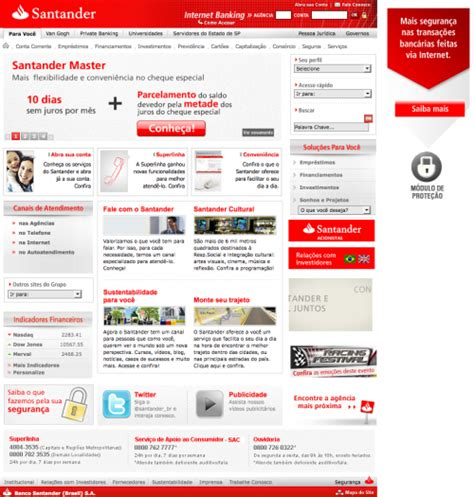 santander consumer bank banking log in what color is your money showcase of bank websites