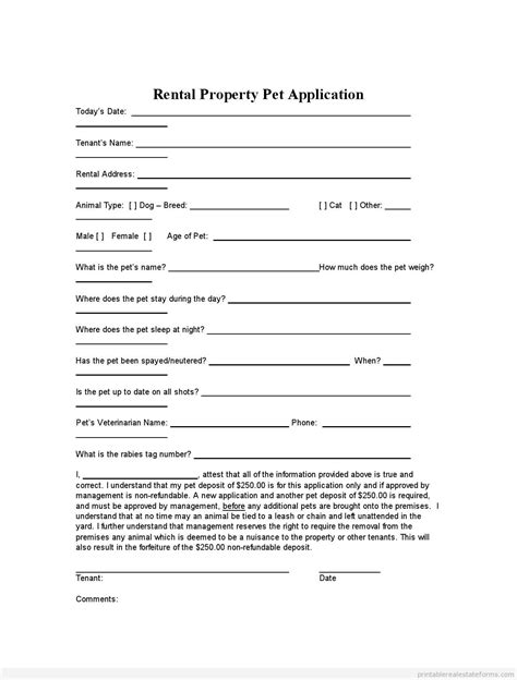 land lease agreement form free sle doc printable rental