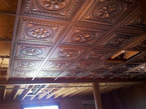 decorative drop in ceiling tiles design new basement and