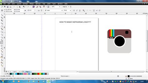 tutorial bikin video instagram tutorial membuat logo instagram menggunakan corel draw