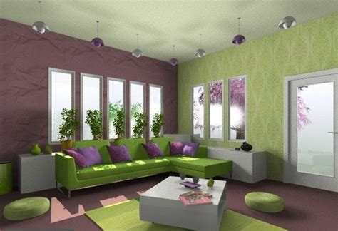 green and purple bedroom interior design in green and purple interior design