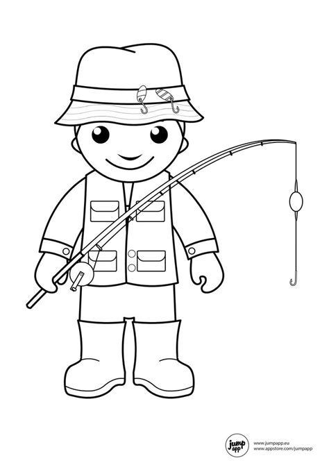Fisherman Coloring Pages fisherman printable coloring pages