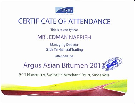 certificate of attendance conference template quotes for attendance certificates quotesgram