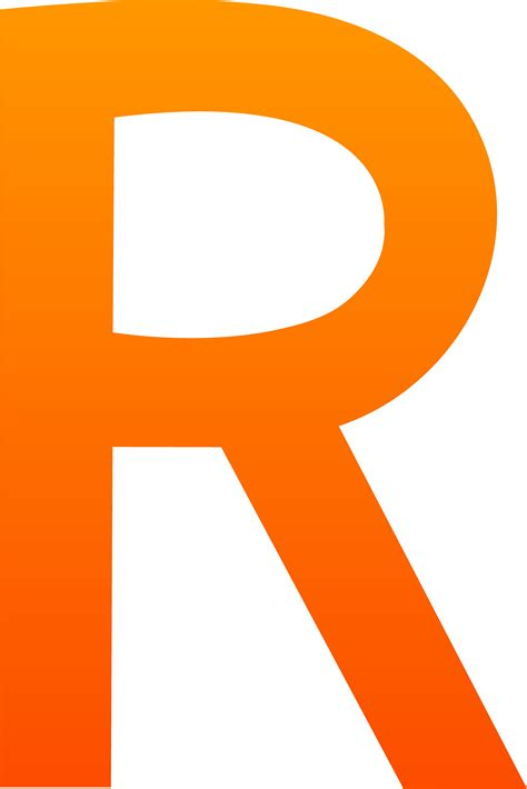 The Letter R - Free Clip Art R