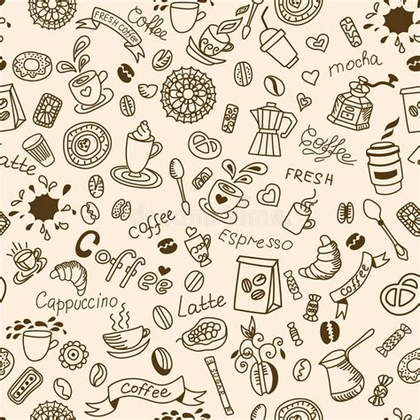 coffee shop background pattern royalty free vector image seamless doodles background with coffee and bakery