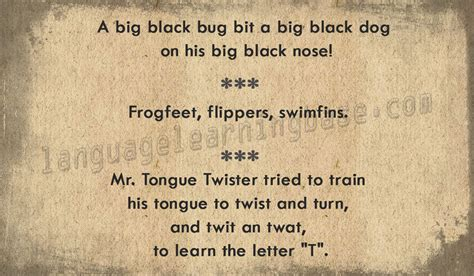 best tongue twisters tongue twisters in www imgkid the image